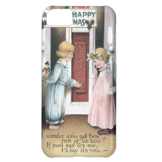 A Very Happy Christmas Vintage Greeting Card iPhone 5C Cases