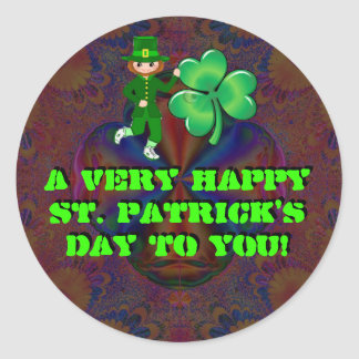 A Very Happy St. Patrick's Day To You! Round Stickers