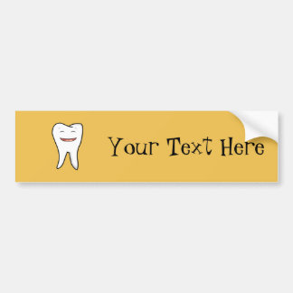 A Very Happy Tooth Bumper Sticker