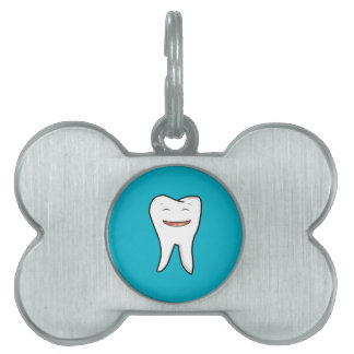 A Very Happy Tooth Pet Name Tag