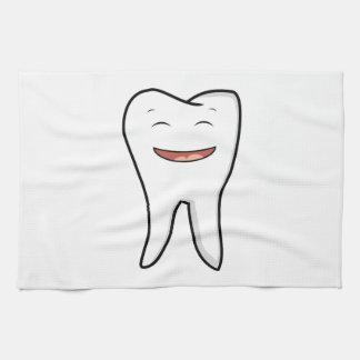 A Very Happy Tooth Tea Towel