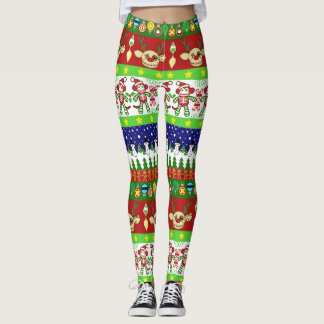 A Very Macabre Ugly Christmas Sweater Leggings
