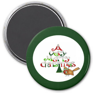 A Very Merry Christmas 7.5 Cm Round Magnet