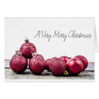 A Very Merry Christmas Baubles Card BLANK INSIDE