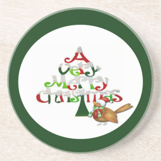 A Very Merry Christmas Beverage Coasters