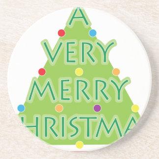 a very merry christmas coaster