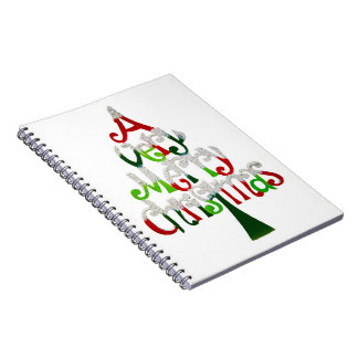A Very Merry Christmas Spiral Notebook