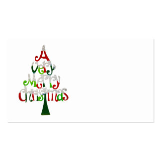 A Very Merry Christmas Tree Pack Of Standard Business Cards