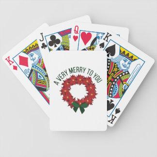 A Very Merry Poker Deck