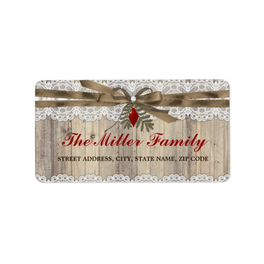 A Very Merry Vintage Christmas Address Labels