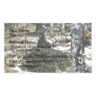 A very odd blue spruce business card