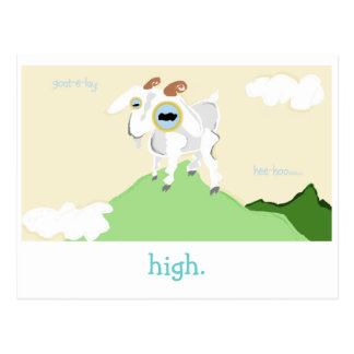 A Very Punny Goat Card. Postcard