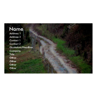 A Very Steep Country Road In The Southern Appalach Business Card