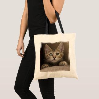 A Very Sweet Tabby Kitten Tote Bag