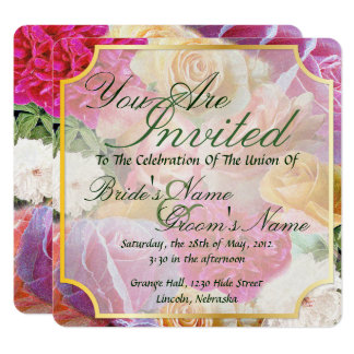 A Vibrant Field of Roses - Wedding Invite