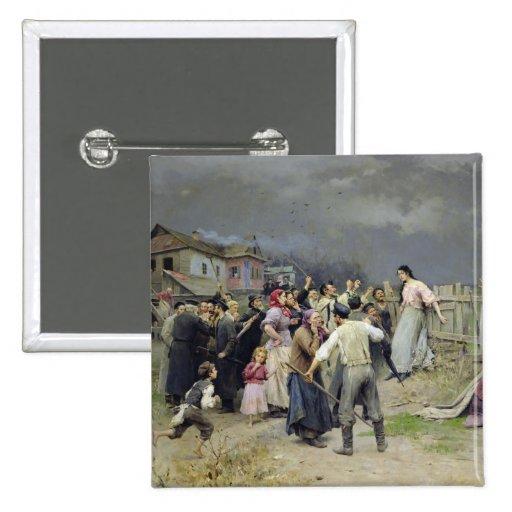 A victim of fanaticism, 1899 pin