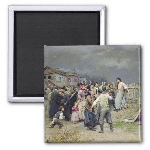 A victim of fanaticism, 1899 magnets