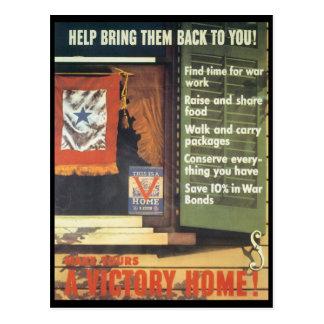 A Victory Home World War 2 Postcard