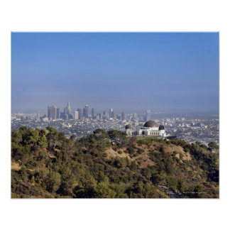 A view from a hiking trail in Griffith Park Print