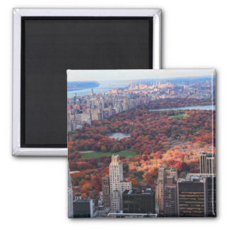 A view from above: Autumn in Central Park 01 Square Magnet
