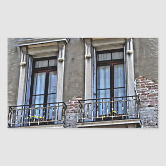 A view from Lido, Venezia Rectangular Sticker