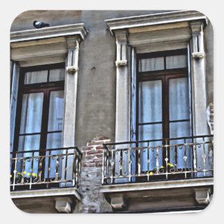 A view from Lido, Venezia Square Sticker