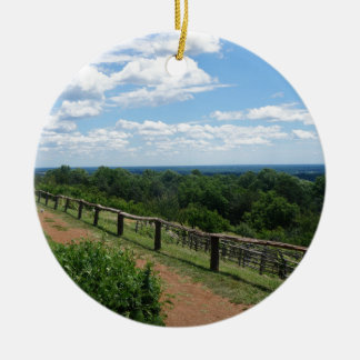 A View From Monticello Ceramic Ornament