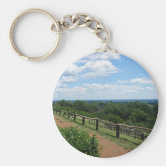 A View From Monticello Key Ring