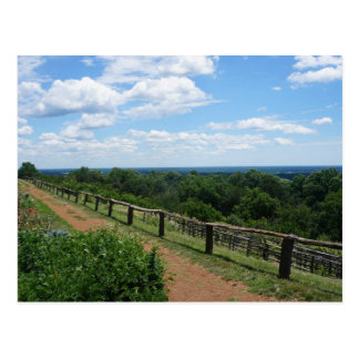 A View From Monticello Postcard