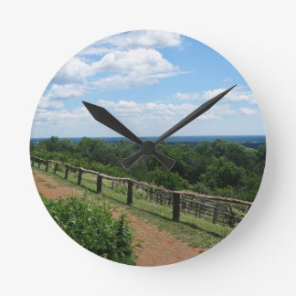 A View From Monticello Round Clock