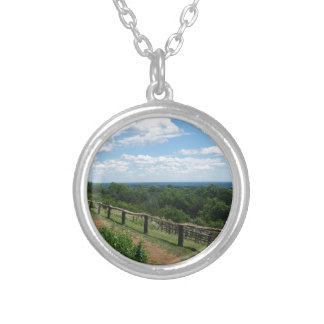 A View From Monticello Silver Plated Necklace