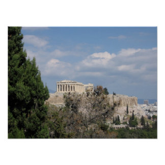 A view of Acropolis from Filopappou Hill Poster
