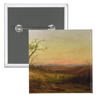A View of Adelaide at Sunset 15 Cm Square Badge