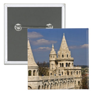 A view of Budapest from Castle Hill. 15 Cm Square Badge