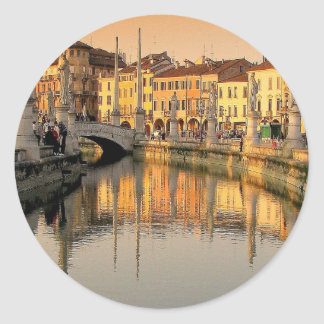 A View Of Italy Classic Round Sticker