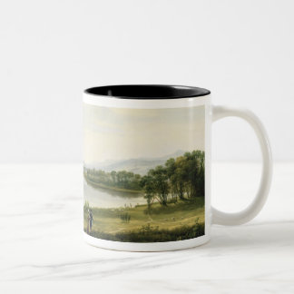 A View of Knock Ninney and Part of Lough Erne from Two-Tone Coffee Mug