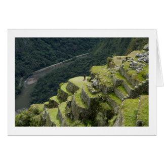 A View of Machu Picchu Peru Greeting Card
