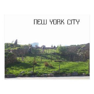 A view of man made land in Manhattan Postcard