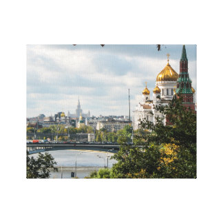 A view of Moscow from the Kremlin Canvas Print