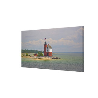 A view of Round Island Light Station. Canvas Prints
