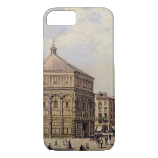 A View of the Baptistry in Florence (panel) iPhone 7 Case