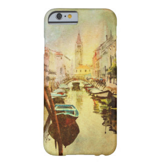 A View Of The Canal With Boats And Buildings Barely There iPhone 6 Case