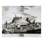 A view of the city and castle of Aleppo, Syria Poster