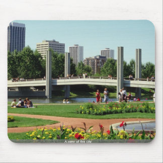 A view of the city mouse pads