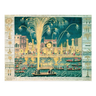 A View of the Fireworks and Illuminations Postcard