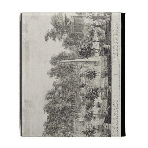 A View of the Orangery, Lord Burlington's Garden a iPad Folio Case