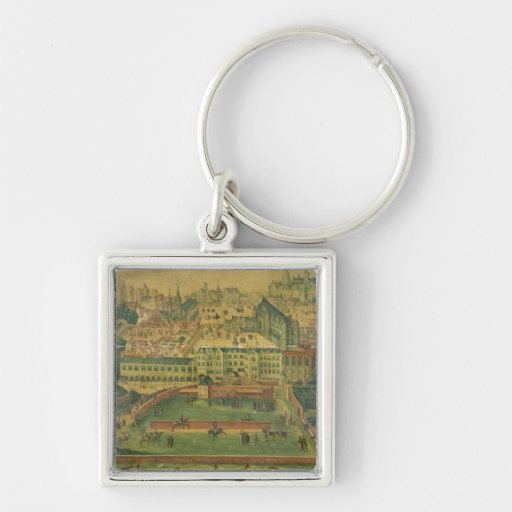 A View of the Royal Palace, Brussels Key Chains