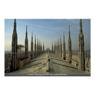 A view of the top of the Duomo cathedral Milan Posters