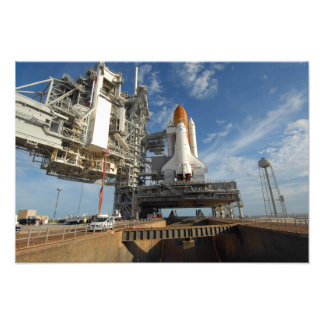 A view Space Shuttle Atlantis on Launch Pad 39A Art Photo