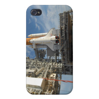 A view Space Shuttle Atlantis on Launch Pad 39A Covers For iPhone 4